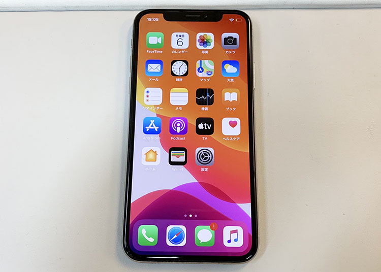 Apple iPhone X MQC22J/A 256GB SB ▲ 音割れ